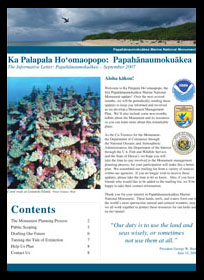 Monument Management Plan Update 1 — Ka Palapala Ho'omaopopo