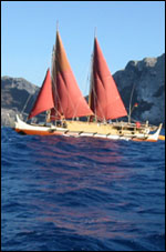 2004 cultural expedition of the voyaging canoe Hokele'a at Nihoa Island