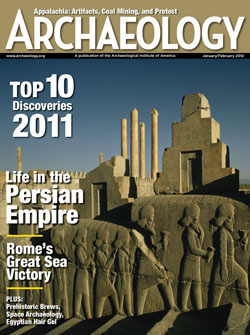 January/February 2012 issue of Archaeology magazine.