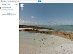 Screenshot of Pearl and Hermes Atoll on Google Streetview.