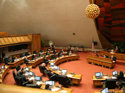 State Reps gathered at the Hawaiʻi State House of Representatives just before the presentation.
