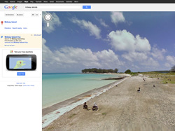 Screenshot of Midway Atoll on Google Streetview.