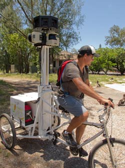 Using the Google Trike, PMNM staff captured images across the island.
