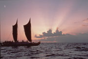 Replica of a Polynesian Voyaging Canoe, the Hokule'a. Photo by Monte Costa.