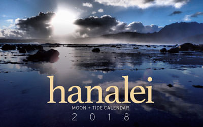 2018 Hanalei Moon and Tide Calendar.
