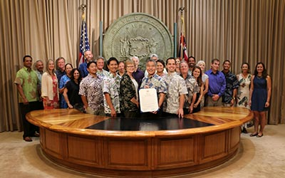 Image of Governor Ige issued a special proclamation to honor the 10-year anniversary of the establishment of the Monument