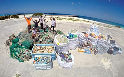 Image of Twelve Tons of Marine Debris Removed from Papahānaumokuākea