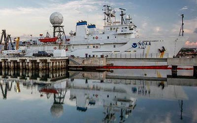 Image of Okeanos Explorer departs to Survey Deep-Sea Areas in Papahānaumokuākea